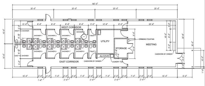 St Joes Shower House Floor Plan