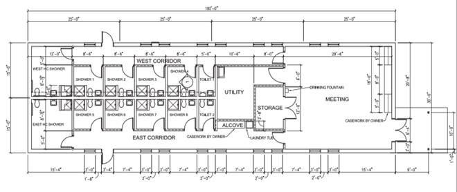 St Joes Shower House Floor Plan