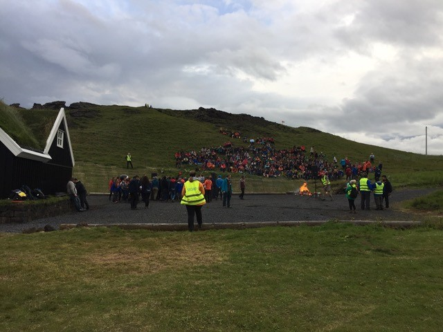 The Vestmannaeyjar Tribes gather for our final campfire